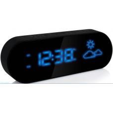 Настольные часы-метеостанция BVItech BV-42BKH (синие цифры)