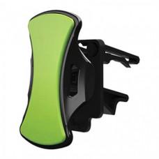 Автомобильный держатель липучка для смартфона Clingo car vent mount 07007, зеленый