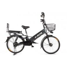 Велогибрид Eltreco e-ALFA GL, серый