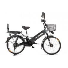 Велогибрид Eltreco e-ALFA GL, темно-серый