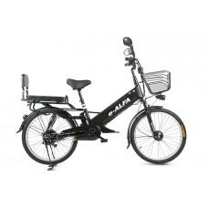 Велогибрид Eltreco e-ALFA GL, матово-черный