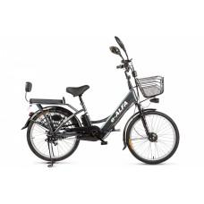 Велогибрид Eltreco e-ALFA, серый
