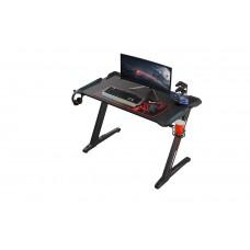 Стол для компьютера (для геймеров) Eureka Z1 S с синей подсветкой, чёрный