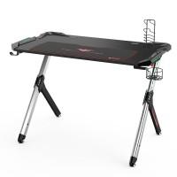 Стол для компьютера (для геймеров) Eureka R1 S с RGB подсветкой, чёрный