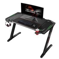 Стол для компьютера (для геймеров) Eureka Z2 c RGB подсветкой, чёрный