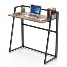 Складной письменный стол (для компьютера) EUREKA ERK-FD-03VP с шириной 84 см, Vintage Brown