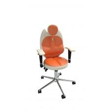 Кресло детское эргономичное Kulik TRIO (1401) white/orange