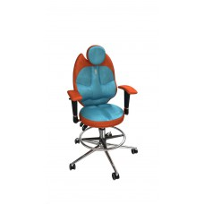 Кресло детское эргономичное Kulik TRIO (1403) orange/turquoise