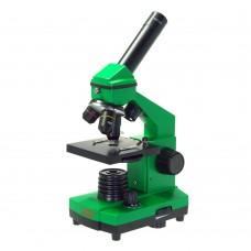 Микроскоп школьный Эврика 40х-400х в кейсе (лайм) 25447