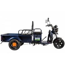 Грузовой электрический трицикл RuTrike D1 1200 60V 900W, синий
