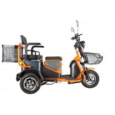 Электротрицикл Rutrike Pass S2 трансформер, черно-оранжевый