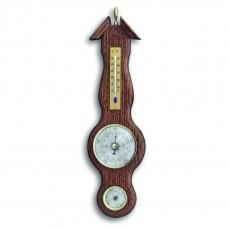 Аналоговая метеостанция TFA 20.1038, деревянная