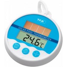 Цифровой термометр для бассейна TFA 30.1041. с солнечной батареей