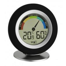 Термогигрометр TFA 30.5019.01, черный, стрелочный индикатор зон комфорта