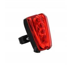 Большой задний LED фонарь TNB для велосипеда, черно-красный