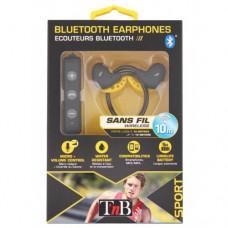 Cпортивные беспроводные Bluetooth наушники T'nB EBSPBK